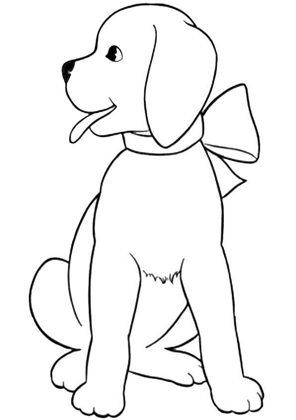 ausmalbilder kostenlos hunde-4 | Ausmalbilder Kostenlos