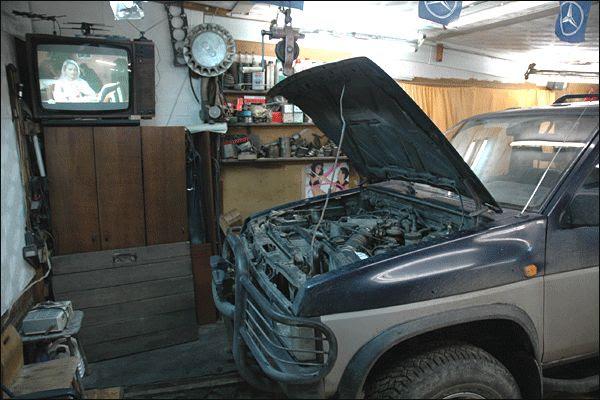 Interior de Garagem de Murmansk