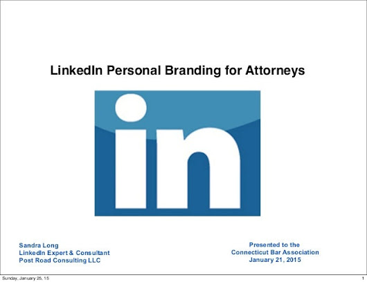 LinkedIn Personal Branding for Attorneys