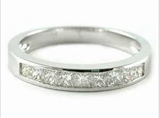 PLATINUM CHANNEL SET PRINCESS CUT DIAMOND HALF ETERNITY WEDDING BANDS RINGS   eBay