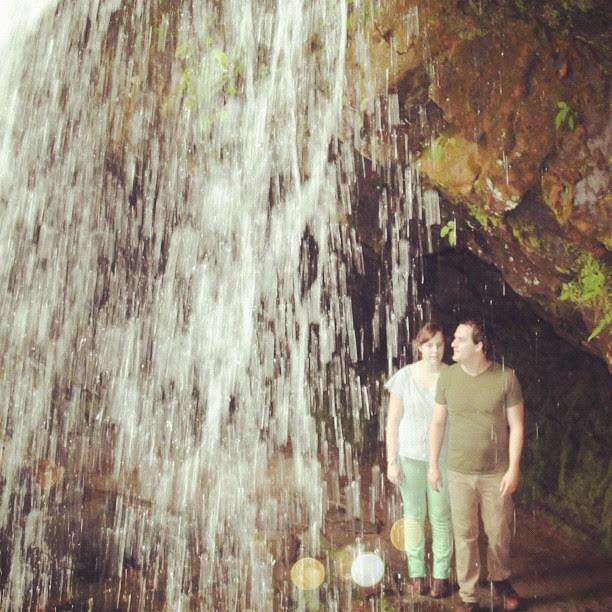 Ryan and I behind the falls