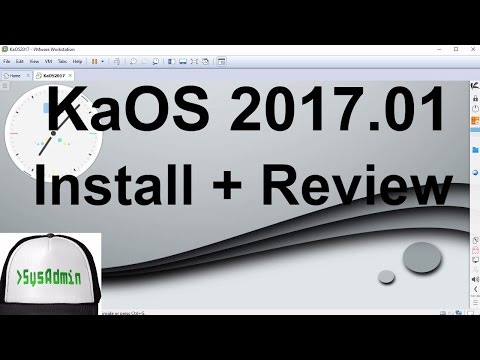 KaOS 2017.01 Installation and Review on VMware