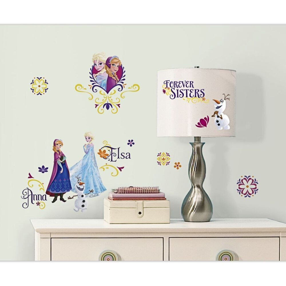 Disney Frozen Anna Elsa Spring Time Removable Wall Decal Stickers Mural Licensed  eBay