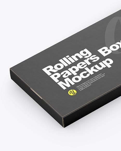 Download Paper Cigarette Pack Mockup - Rolling Paper Box Mockup In ...