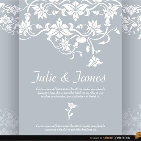 Floral Wedding Invitation Vector   free vectors   UI Download