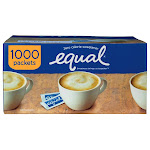 Equal Zero Calorie Sweetener Packets, 1,000-count