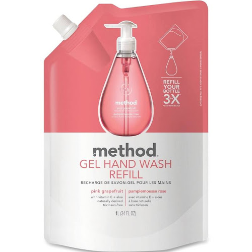 Method Gel Handwash Refill, Pink Grapefruit - 34 fl oz pouch