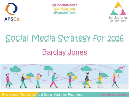 Social media strategy 2016 for recruiters with APSCo