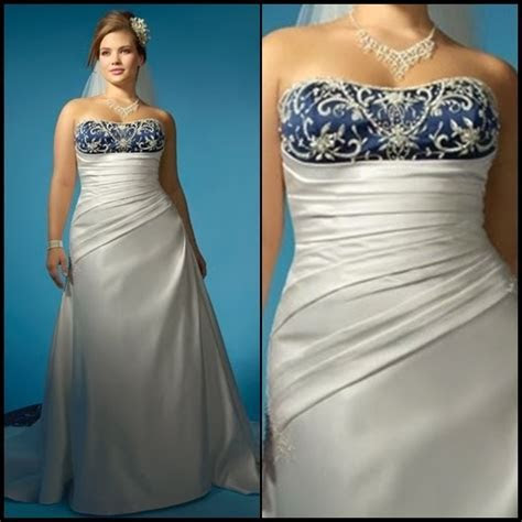 PLUS SIZE WEDDING DRESSES WITH COLOR   SECTION TWO