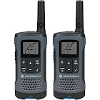 Motorola Talkabout T200 20-mile Two-way Radio Pair - Dark gray - FRS/GMRS - 462-467 MHz