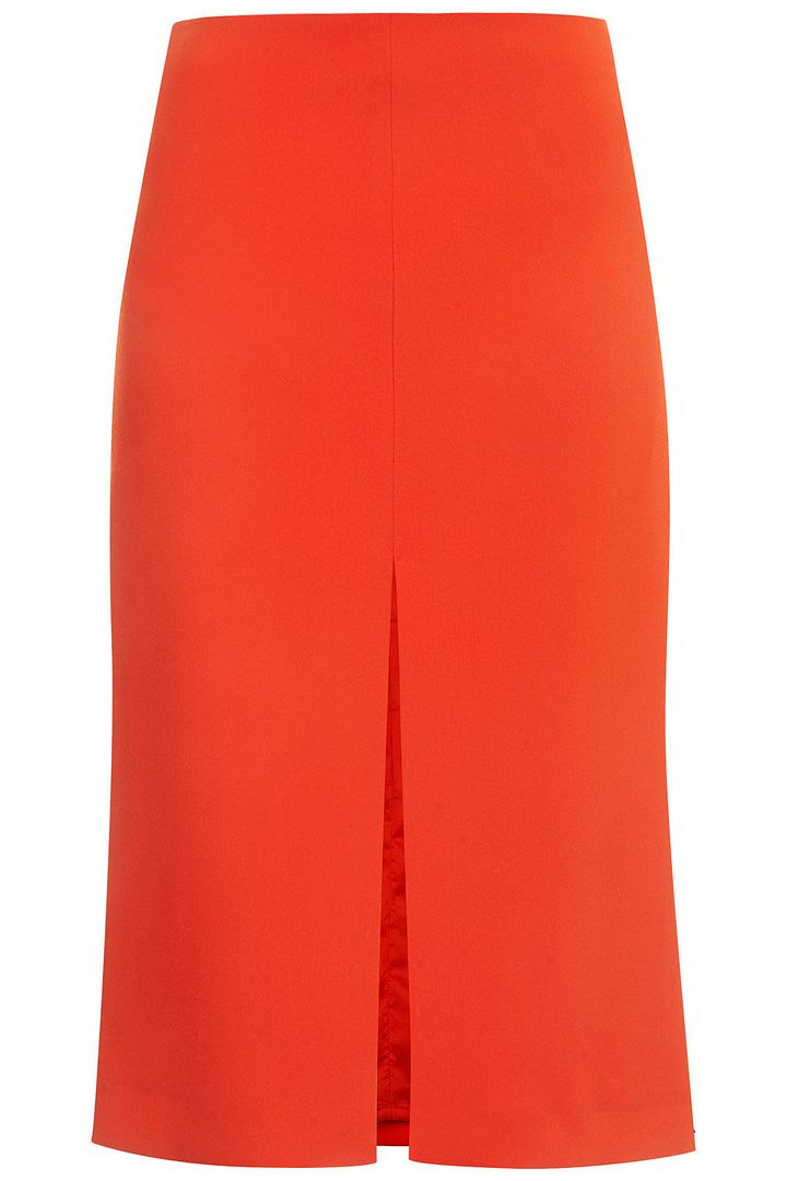 Topshop Crepe Split Pencil Skirt