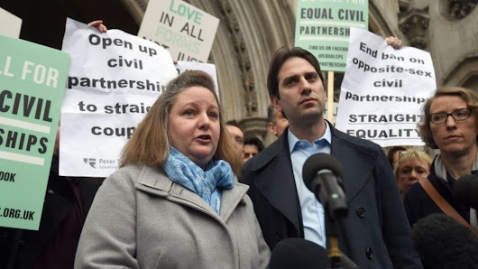 Heterosexual couple lose civil partnership challenge - BBC News