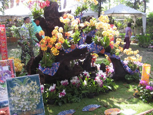 Floral display from Japan at the Rose Garden, Nakhon Pathom