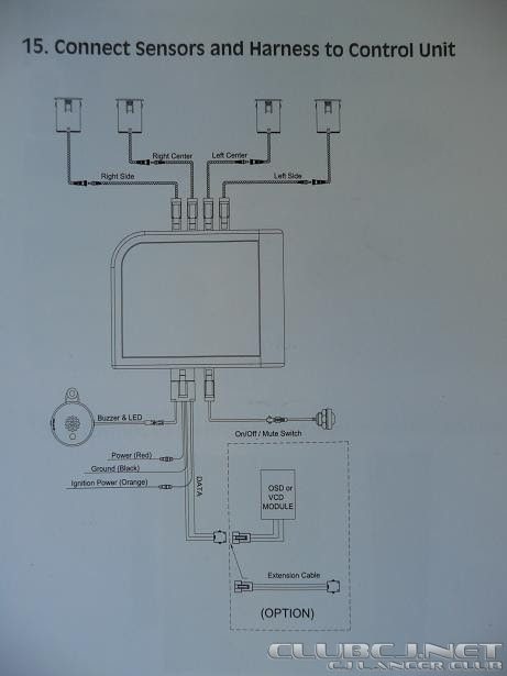 Backup Sensor Wiring Diagram