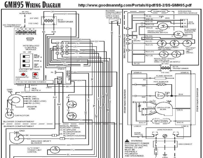 Goodman Furnace Thermostat Wiring Diagram 100 4