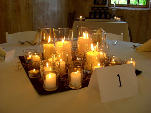 weddingdress: Wedding Reception Candle Centerpieces on
