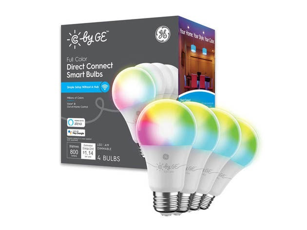 Cync by GE 93128983 Full Color Direct Connect Smart Bulb (4 LED A19 Bulbs) for $52