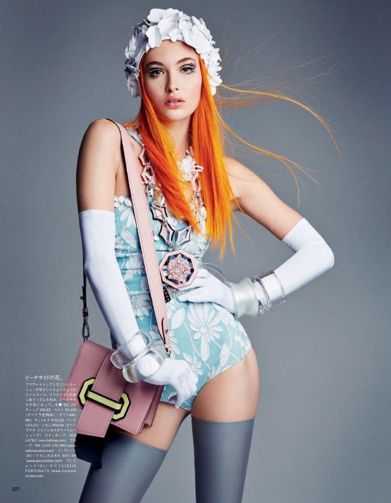 Graceelizabeth Is A Modern Day Pin Up In Vogue Japan At Flynnagin11