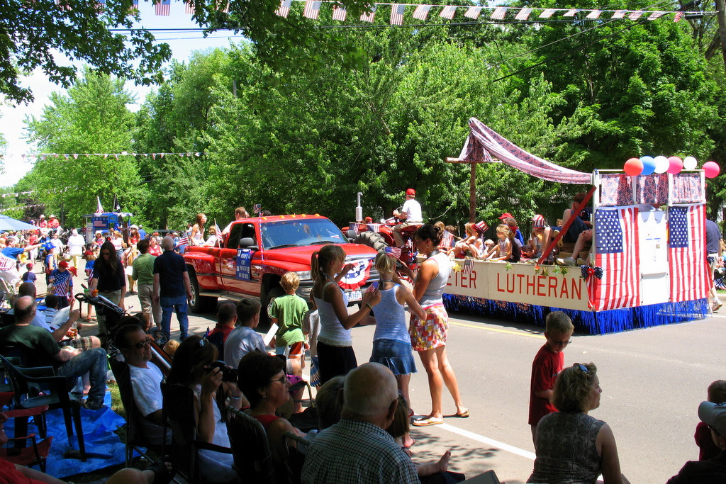 a photo from the 4th of July parade in Afton, Minnesota.