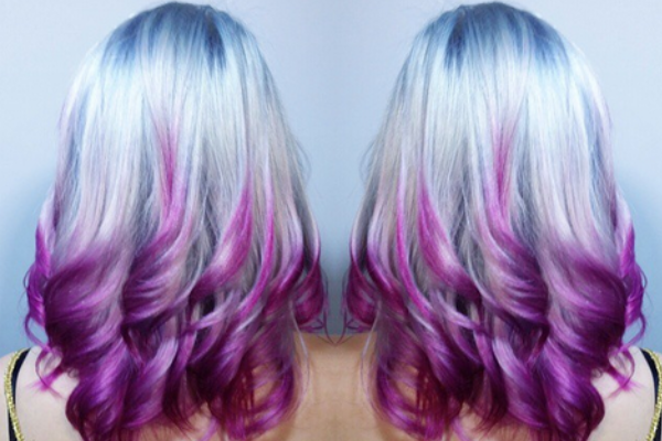 Fashionnfreak Blue Purple Color Hair
