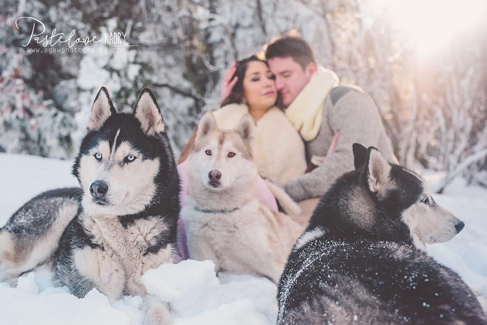 zdjęcia ślubne zima