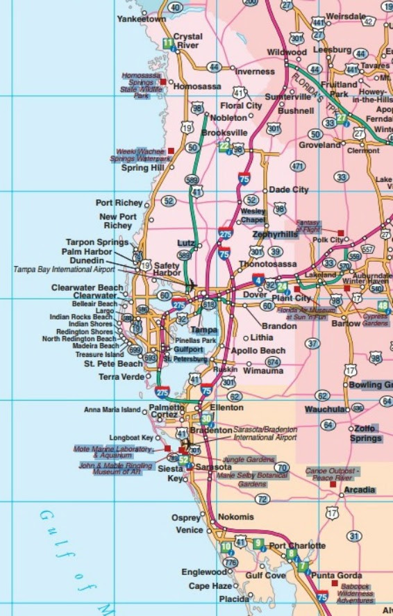Florida Road Maps Statewide Regional Interactive