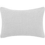 Laura Ashley Waffle Knit Throw Pillow 14x20 Pastel Grey