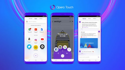 Opera Touch Browser updated to add Dark Theme support - GoAndroid