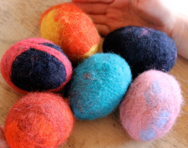 Wool felt Easter eggs