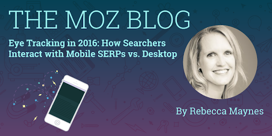 Eye Tracking in 2016: How Searchers Interact with Mobile SERPs vs. Desktop