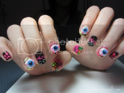 Cute and Creepy Nails for Halloween ~ Drop Dead Cute ...
