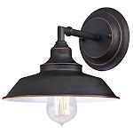 Westinghouse 6343500 Iron Hill One Light Indoor Wall Fixture Oil Rubbed Bronze with Highlights