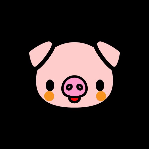かわいい豚の無料イラスト商用フリー オイデ43