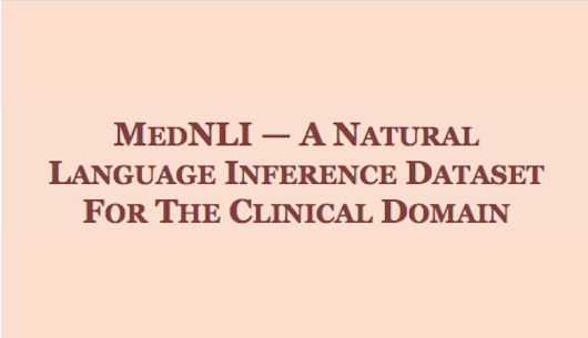 Towards Language Inference in Medicine - IBM Blog Research