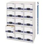 Bankers Steel Drawer Plus Storage Box, Letter, White/Blue, 6/Carton (FEL00311)