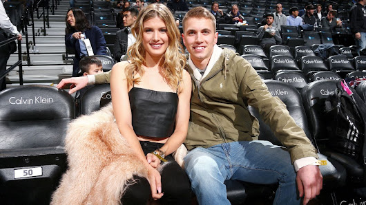 Genie Bouchard pays off Super Bowl LI bet with date at Brooklyn Nets game