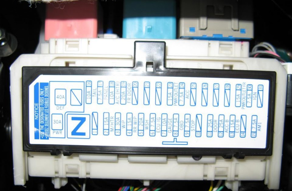 Fuse Box Layout For Toyota Yaris