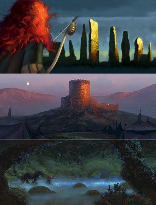 pixar brave art. Concept art for Pixar#39;s
