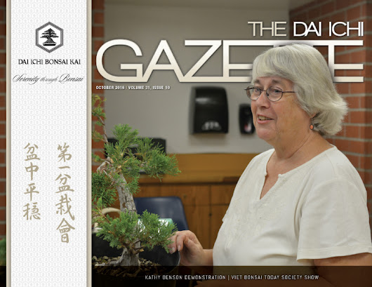 THE OCTOBER DIBK GAZETTE IS AVAILABLE! | Dai Ichi Bonsai Kai