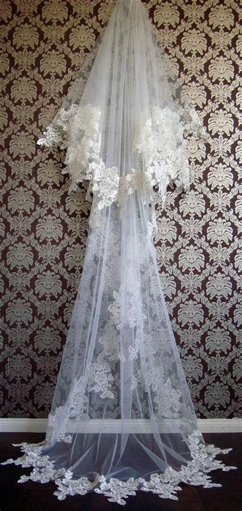 Vintage 2015 Lace Formal Wedding Bridal Veil Chic Lace