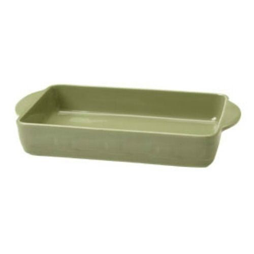 Longaberger Woven Traditions 9x13 Vitrified Pottery Baking Dish - SAGE