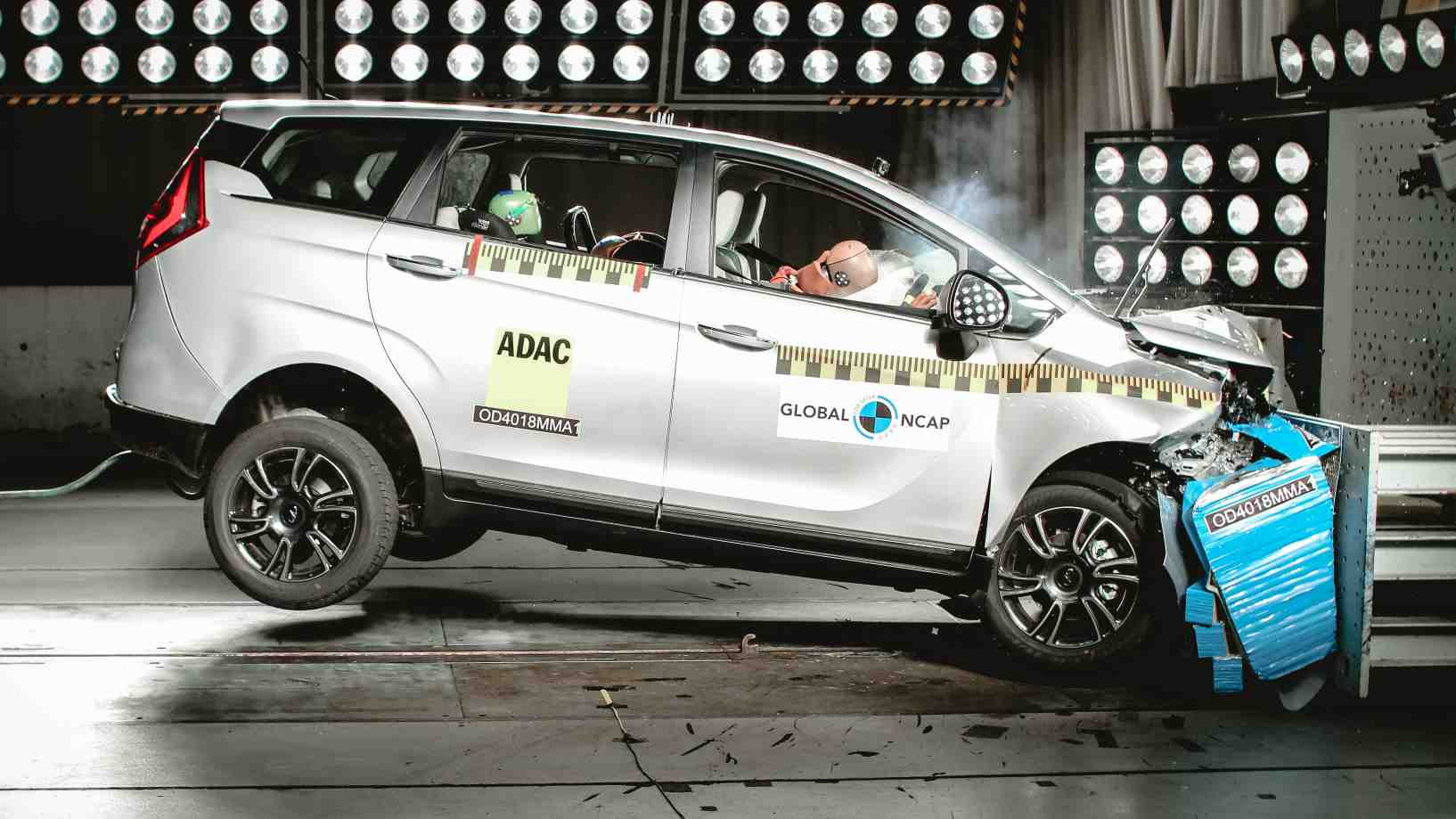 The Mahindra Marazzo was the first MPV to secure four stars in Global NCAP's #SaferCarsForIndia crash tests. Image: Global NCAP