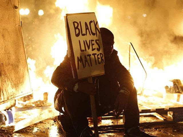"BLM is ""hell bent on inciting riots"" according to a Breitbart report"