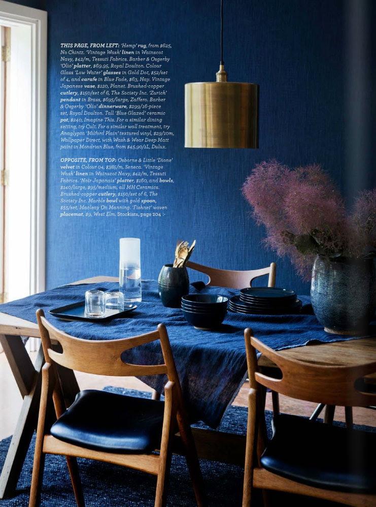 Midnight Express Colour Your Home In Indigo Interiors