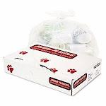 10 Gallon White Garbage Bags, 24x23, 0.5mil, 500 Bags (JAGW2423X)