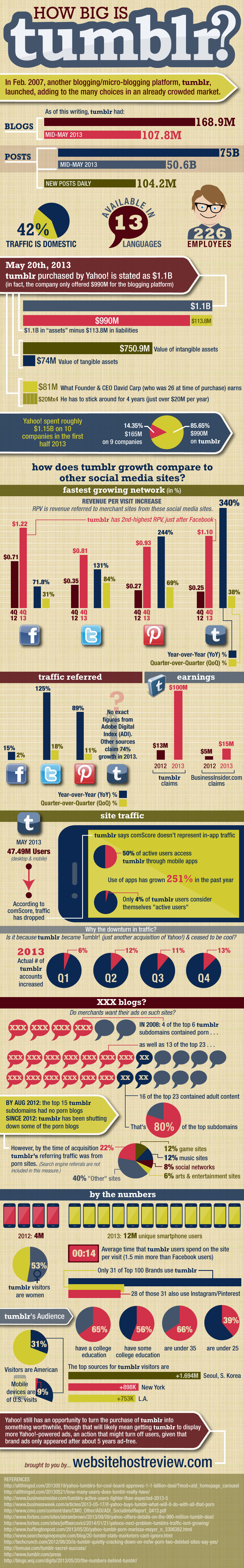 How Big is Tumblr? - infographic