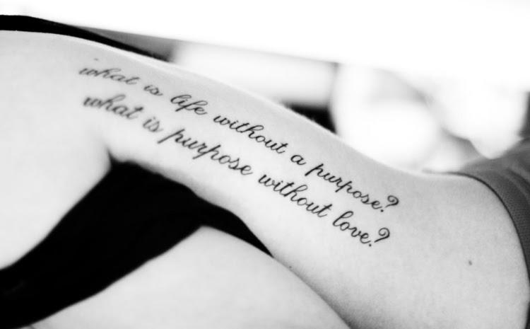 Die Besten Sprüche Für Ein Tattoo Sprüche Und Zitaten