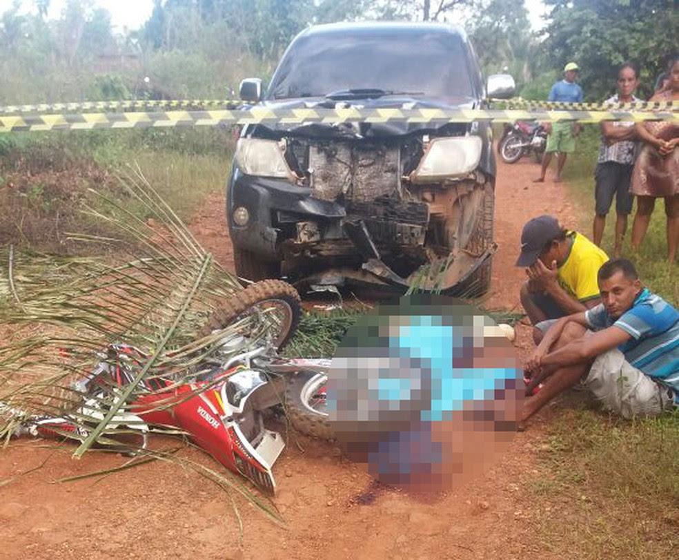 Piloto de rali morre ao colidir de frente com hilux, em União (Foto: CliqueUnião)