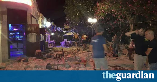 Turkey and Greece hit by strong earthquake: two dead and 200 injured – latest | World news | The Guardian