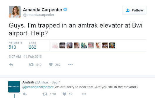 Amtrak responds to woman stuck in elevator...seven months later